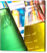 Erlenmeyer Flasks In Science Research Lab Canvas Print
