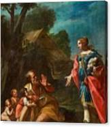 Erminia Among The Shepherds Canvas Print