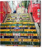 Escadaria Selaron In Rio De Janeiro Canvas Print