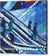 Escalator Lights Canvas Print