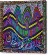 Ethnic Wedding Decorations Abstract Usring Fabrics Ribbons Graphic Elements Canvas Print