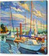 Evening At The Marina Canvas Print