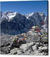 Everest Prayer Flags Canvas Print