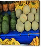 Exotic Fruit Market Canvas Print