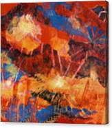 Explosions Of Light Canvas Print