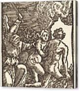 Expulsion From Paradise Canvas Print