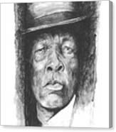 Face Of The Blues - John Lee Hooker Canvas Print