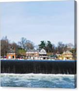 Fairmount Dam - Boathouse Row Canvas Print