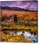 Fall Along Kebler Canvas Print