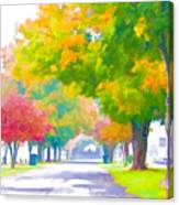 Fall In Holly Hill Canvas Print
