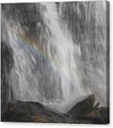 Falls And Rainbow Canvas Print
