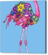 Fancy Felicity Flamingo Canvas Print