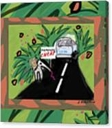 Fantasy Animals Catch A Bus Canvas Print