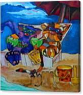 Fat Cats Catchin Rays Canvas Print