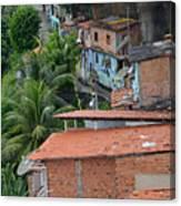 Favela In Salvador Da Bahia Brazil Canvas Print