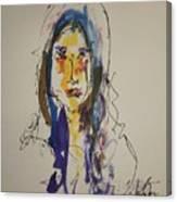 Female Face Study  B Canvas Print