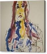 Female Face Study  E Canvas Print