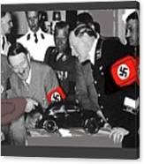 Ferdinand Porsche Showing The Prototype Of The Vw Beetle To Adolf Hitler 1935-2015 Canvas Print
