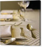 Festive Table Setting For A Formal Dinner  Canvas Print