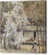 Figure In A Japanese Landscape Canvas Print