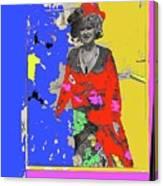 Film Homage Ann-margret Collage Train Robbers 1973 The Great White Hope Globe Arizona 1969 Canvas Print