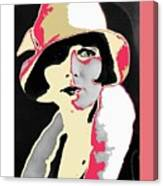 Film Homage Louise Brooks In Flapper Hat 1927-2013 Canvas Print