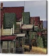 Film Homage Mae Marsh Miner's Coal Company Homes Ghost Town Madrid New Mexico Color 1968-2008 Canvas Print