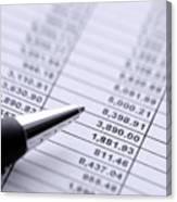 Finances Canvas Print