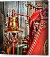 Fireman - The Fire Bell Canvas Print
