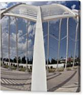 Fish Eye View Of Archway In Olympic Stadium Canvas Print