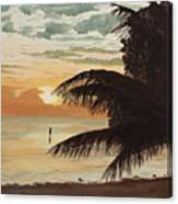 Fisherman At Sunrise Canvas Print