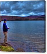 Fishing Limekiln Lake Canvas Print