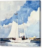 Fishing Schooner Canvas Print