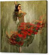 Flamenco In Red Canvas Print