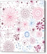 Floral Doodles Canvas Print