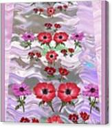 Flower Mania Anemone Fantasy Wave Design Created Of Garden Colors Unique Elegant Decorations Canvas Print