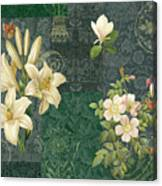 Flower Patchwork 2 Canvas Print