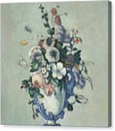Flowers In A Rococo Vase Canvas Print