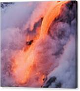 Flowing Pahoehoe Lava Canvas Print