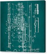 Flute Patent Drawing 2f Canvas Print