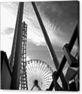 Focus On The Ferris Wheel Canvas Print