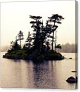 Fog Setting In On The Lake Canvas Print