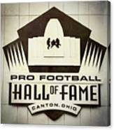 Football Hall Of Fame #1 Canvas Print