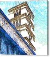 Foreshortening With Bell Tower Canvas Print