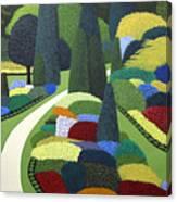 Formal Garden On Canvas Canvas Print