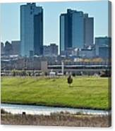 Fort Worth Panorama Canvas Print