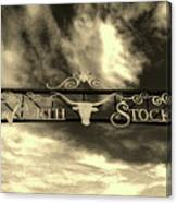 Fort Worth Stockyards District Archway Canvas Print