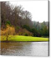 Fountains Abbey  Lake 1 Canvas Print