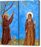 Francis And Claire Triptych Canvas Print