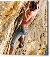 Free Climber Canvas Print
